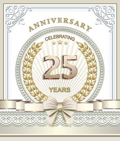 25: Anniversary 25 years Illustration