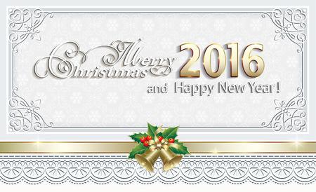 christmas frame 2016 stock vector 45175816
