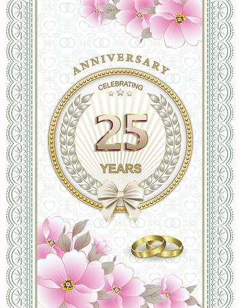 anniversary card: Wedding anniversary 25 years