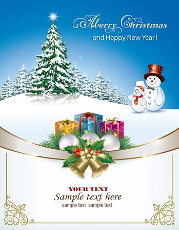 nowy rok: Wesołych Świąt i Szczęśliwego nowego roku