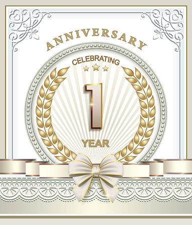 1 year: Happy Birthday: 1 year Illustration