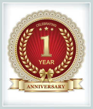 anniversary celebration: Greeting card with anniversary