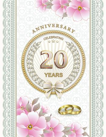 20th: 20th wedding anniversary