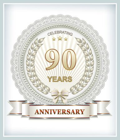 90 years: 90 years anniversary Illustration