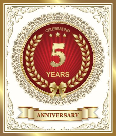 5 years: Happy Birthday: 5 years Illustration