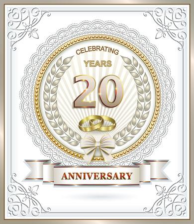 20 aniversario de boda