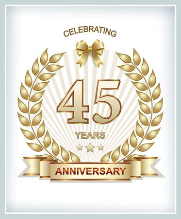45 anniversary 矢量图像