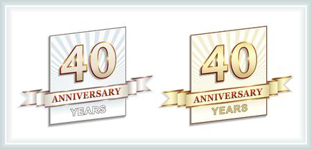 40: 40 years anniversary Illustration