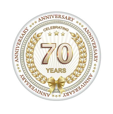 70 years: 70 years anniversary