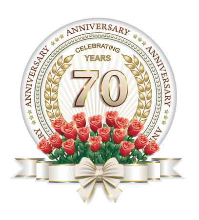 rose bouquet: 70th anniversary with a bouquet of red roses