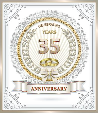 aniversario de boda 35 años