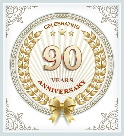 90 years: Anniversary card 90 years Illustration