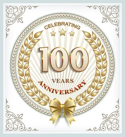Anniversary card 100 years