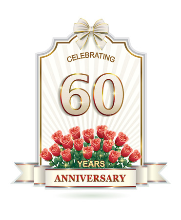 60: 60 years Anniversary card Illustration
