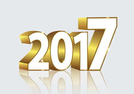 new year s card: new year 2017