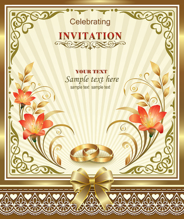 gold star mother's day: wedding invitation card