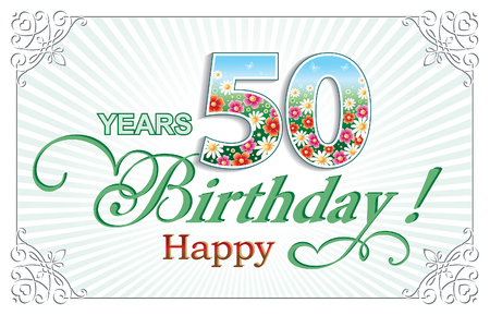 flower age: Happy Birthday 50 years