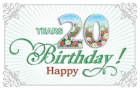 20: Happy birthday 20 years Illustration