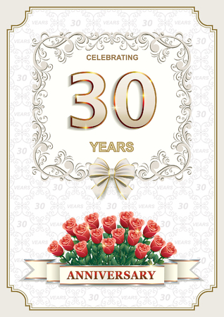 the 30: Anniversary card 30 years