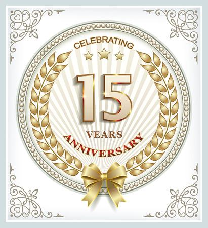 15 years: anniversary card 15 years