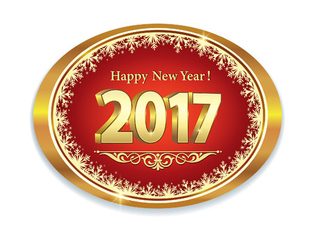 new year s card: Happy New Year 2017