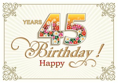 45: 45 years anniversary