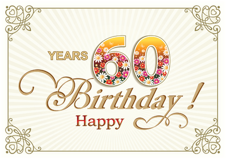 60: Greeting card birthday 60 years