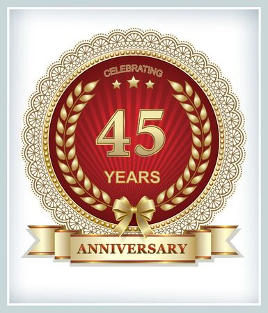 45: Anniversary card 45 years