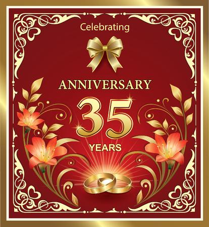 35 years: Anniversary 35 years of wedding