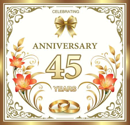45 aniversario de boda en un hermoso marco