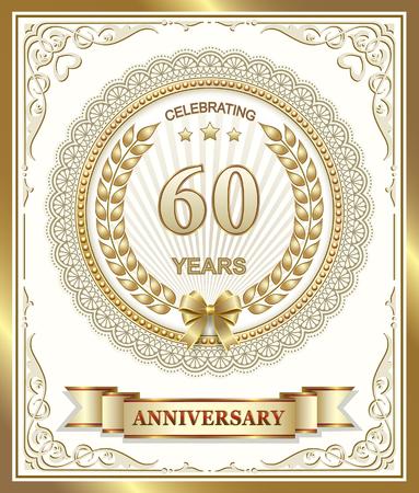 60: Anniversary card 60 years