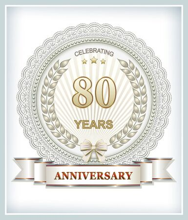 80 years: Anniversary card 80 years