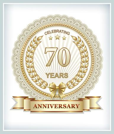 70 years: Anniversary card 70 years