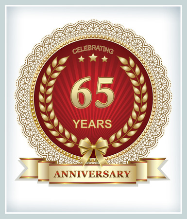 65: Anniversary card 65 years Illustration