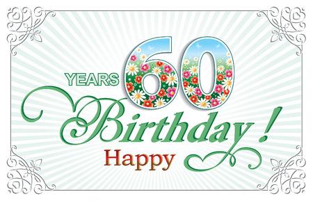 Greeting card birthday 60 years