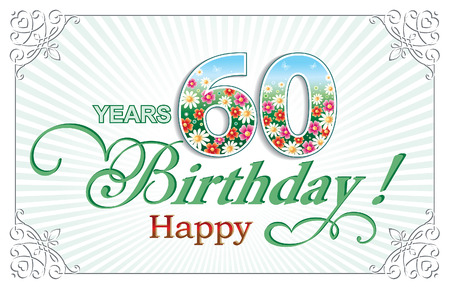 Greeting card birthday 60 years