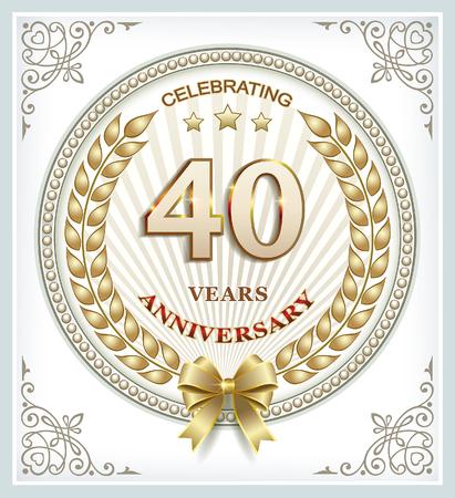40: Anniversary card 40 years