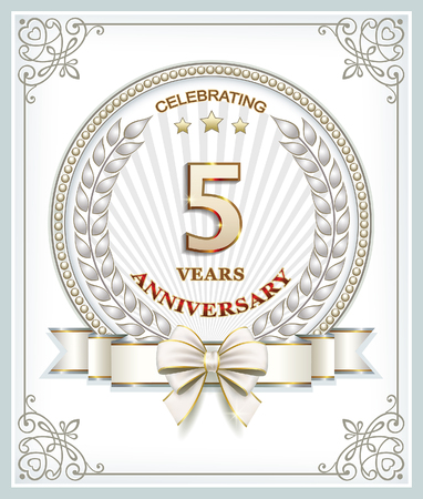 5 years: Anniversary card 5 years