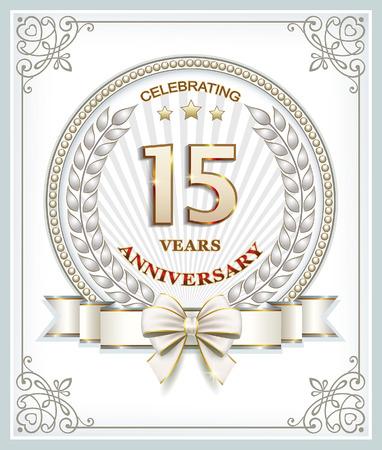 15: anniversary card 15 years