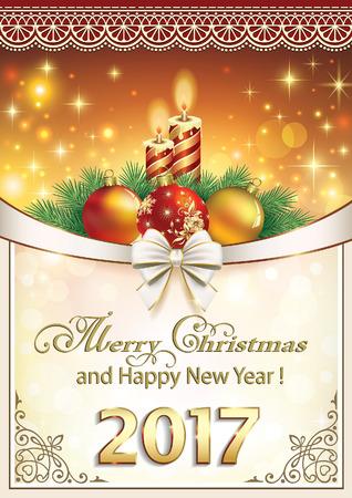 christmas candle: Christmas 2017 with balls and candles