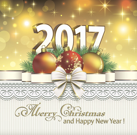 merry christmas and happy new year 2017 stock vector 62247797