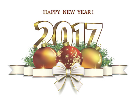 frohes neues jahr: Frohes Neues Jahr 2017 Illustration