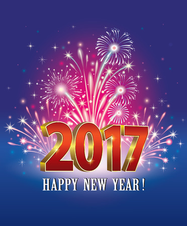 postcard: Postcard Happy New Year 2017