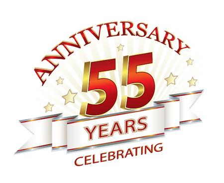 anniversary card: Anniversary card 55 years