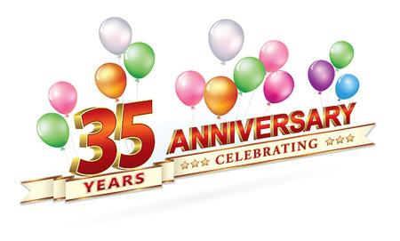 Anniversary 35 years Illustration