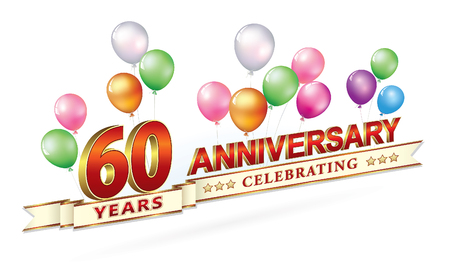 Anniversary 60 years Illustration