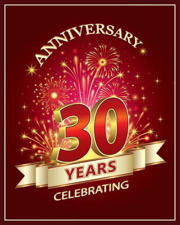 Anniversary card 30 years Stok Fotoğraf - 79326899