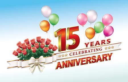 anniversary card 15 years