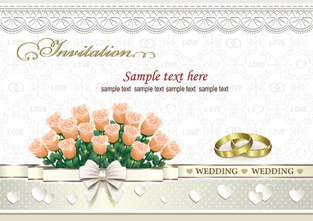 silver: wedding invitation card