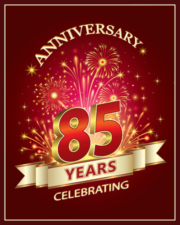 claret: Anniversary card 85 years